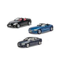 Машина мет. MotorMax 73100 C BMW Z4, Mersedes SLK, Audi A8, металева, 1:18, 3 види, кор.