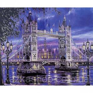 """Алмазная живопись """"Мост"""", мозаика по номерам размер 30*40см Китай"""
