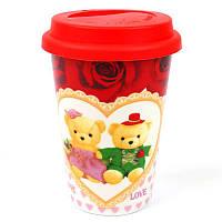 Кружка з силіконовою кришкою в подарунковій упаковці Love Bears 132043