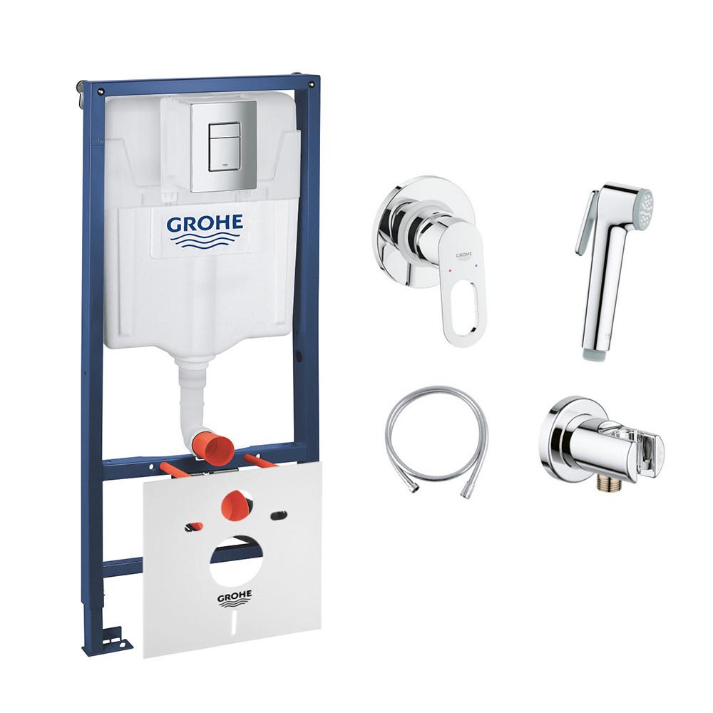 Комплект Grohe інсталяція Rapid SL 38772001 + набір для гігієнічного душу зі змішувачем BauLoop 111042