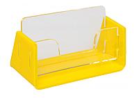 Подставка настольная под визитки с желтой основой