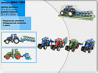 Трактор инерц. 8066/7066 (7066/8066) (30шт) с прицепом, под слюдой 37*11*12см