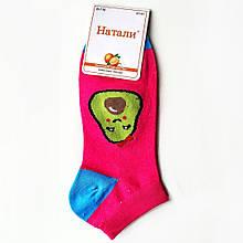 Шкарпетки жіночі короткі чоботи з принтом авокадо фуксія Наталі розмір 37-41