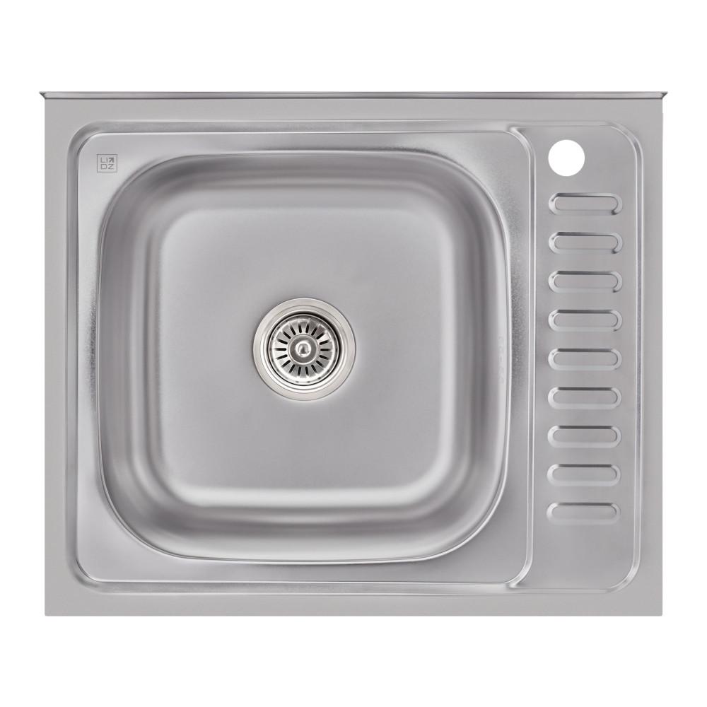 Кухонная мойка Lidz 6050-L Satin 0,6 мм (LIDZ6050L06SAT)