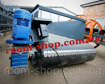 Ленточный погрузчик, конвейер, транспортер, ширина 1000 мм., длина 4 м., весовая лента, с бортами, весовой