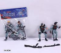 "Полицейский набор ""Police"" 5898-A6 (360шт/2) 2 вида, с оружием,в пакете 14см"