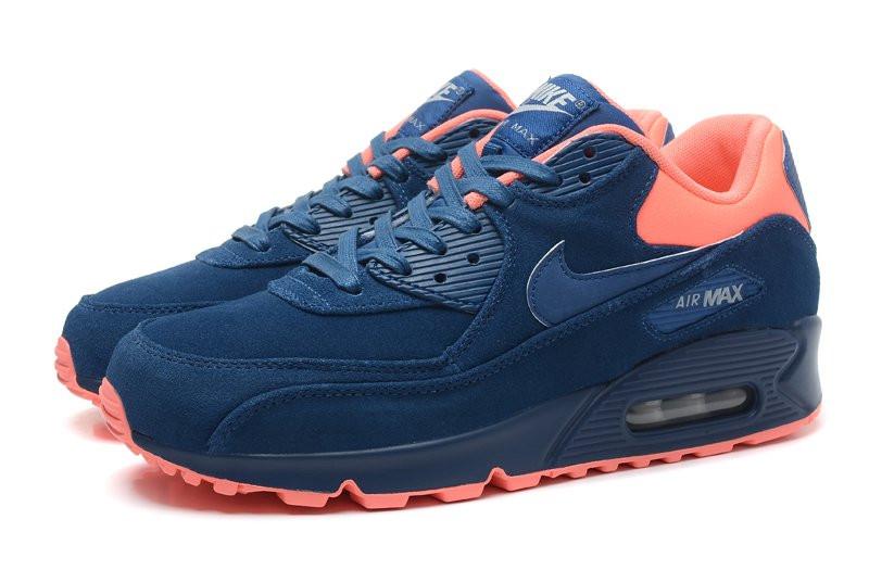 Кроссовки мужские Nike Air Max 90 Premium Blue Orange (в стиле найк аир  макс 90 543bf80b87e09