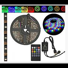Лента светодиодная в силиконе на клейком основании (влагозащищенная) RGB Music 5050 5 метров
