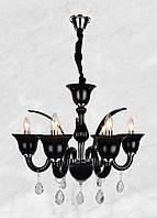 Люстра стеклянная в классическом стиле 20-MA2067-6 (чёрная)