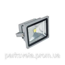 Прожектор LED 10w 6500 ip44 1 led серый+датчик LMPS10