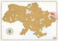 Настенная Скретч - карта Украины Gold