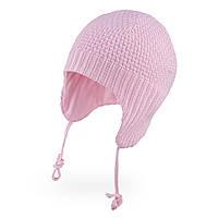 Демисезонная шапка для девочки TuTu арт.3-005670 (34-38, 38-42) 34-38 см., Розовый