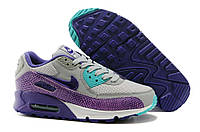 Кроссовки женские Nike Air Max 90 Premium Black Purple Grey (найк аир макс)