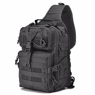 Сумка-рюкзак тактична військова BTB A92 800D, чорна