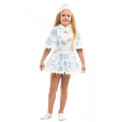 Карнавальный костюм СНЕЖИНКА (мех) на 3-7 лет, 104-122 см, детский новогодний костюм Снежинка