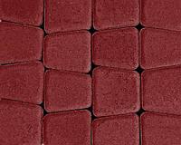 Тротуарная плитка Римский камень красная, Серая основа