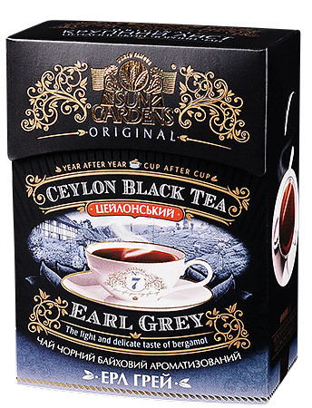 Чай чёрный Sun Gardens Earle Grey Бергамот 90 г.