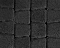 Тротуарная плитка Римский камень черная, Серая основа