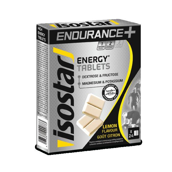 Энергетические таблетки Isostar Endurance + Energy Tablets с лимоном (24 × 4 г)