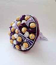 Букет из конфет Ferrero Rosher  сладкий вкусный шоколадный подарок фиолетовый  для мужчины для женщины