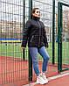 Женская стеганная весенняя куртка на синтепоне и на змейке, с воротником стойкой, батал большие размеры, фото 6