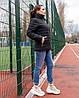 Жіноча стьобана весняна куртка на синтепоні і на змійці, з коміром стійкою, батал великі розміри, фото 7