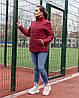 Женская стеганная весенняя куртка на синтепоне и на змейке, с воротником стойкой, батал большие размеры, фото 3