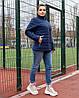Жіноча стьобана весняна куртка на синтепоні і на змійці, з коміром стійкою, батал великі розміри, фото 9