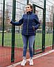 Женская стеганная весенняя куртка на синтепоне и на змейке, с воротником стойкой, батал большие размеры, фото 10