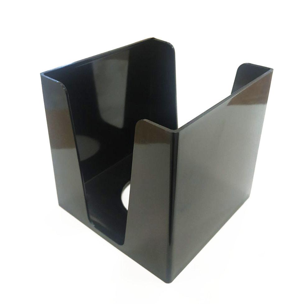 Куб для бумаги 9*9*9 см, черный