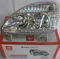 Фара ГАЗ 3302 (капля) нового образца с ДХО левая (пластик) <ДК>