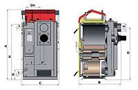 Пиролизный котел Atmos DS 25S, фото 1