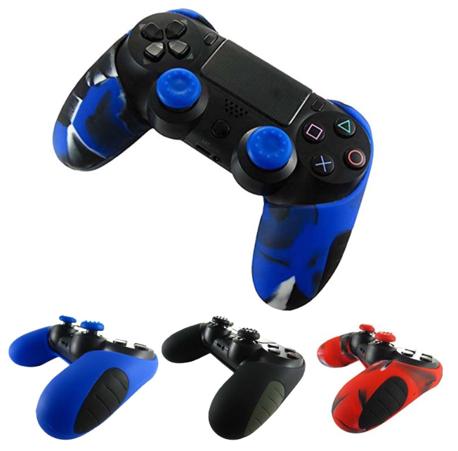 Плотный чехол Bevigac для геймпада DualShock 4 PS4 + накладки /