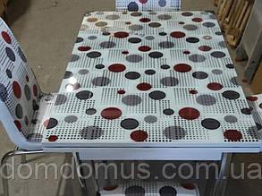 """Комплект обеденной мебели """"Шарики цветные"""" (стол ДСП, каленное стекло + 4 стула) Mobilgen, Турция"""