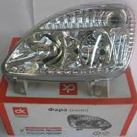 Фара ГАЗ 3302 (капля) нового образца левая (пластик, без ДХО)