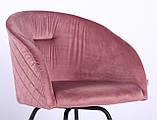 Кресло поворотное Sacramento велюр розовый антик AMF (бесплатная адресная доставка), фото 4