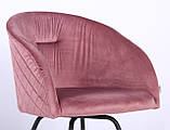 Крісло поворотне Sacramento велюр рожевий антик AMF (безкоштовна адресна доставка), фото 4