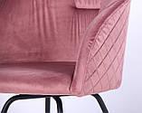 Кресло поворотное Sacramento велюр розовый антик AMF (бесплатная адресная доставка), фото 7