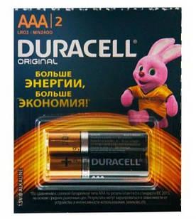 Батарейки Duracell ААА LR03, 2 шт