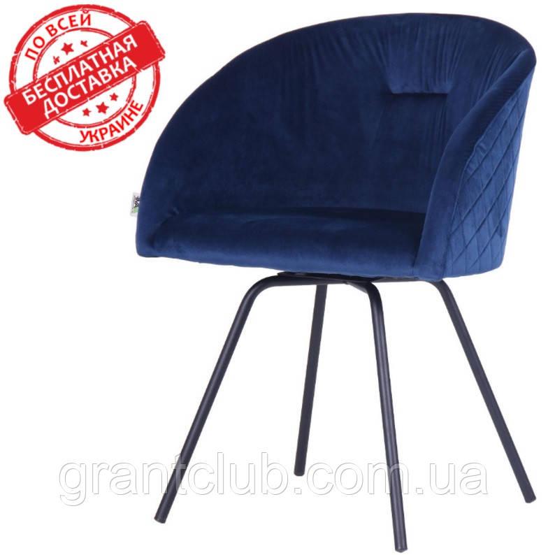 Кресло поворотное Sacramento темно-синий велюр AMF (бесплатная адресная доставка)