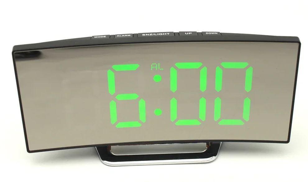 Часы настольные BTB DT-6507 с зеленой подсветкой