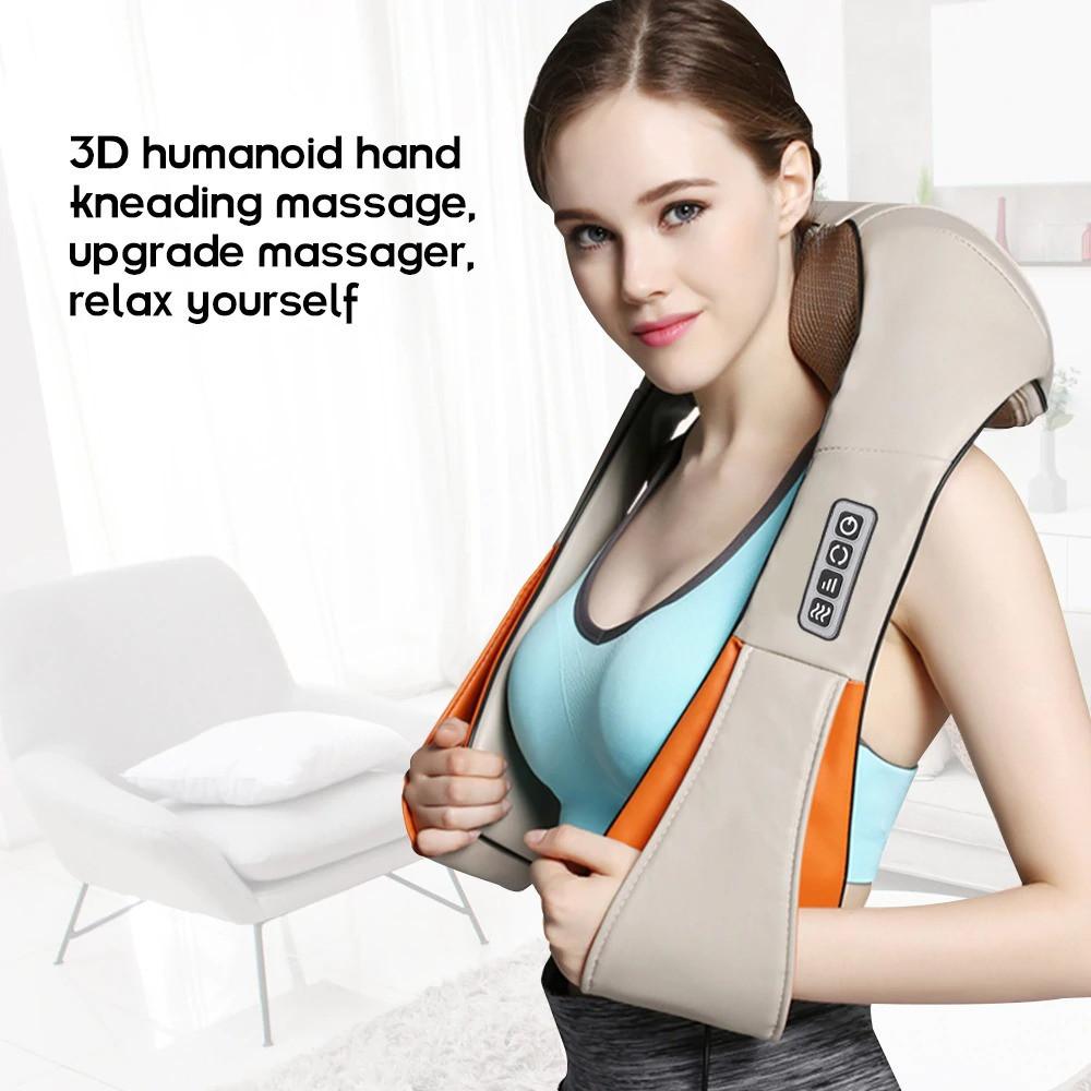 Роликовий масажер для шиї і спини ВТВ Massager of Neck Kneading