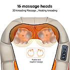 Роликовий масажер для шиї і спини ВТВ Massager of Neck Kneading, фото 4