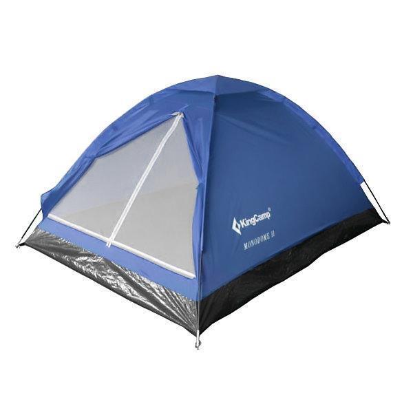 Палатка трехместная KingCamp Monodome 3 KT3016, синяя