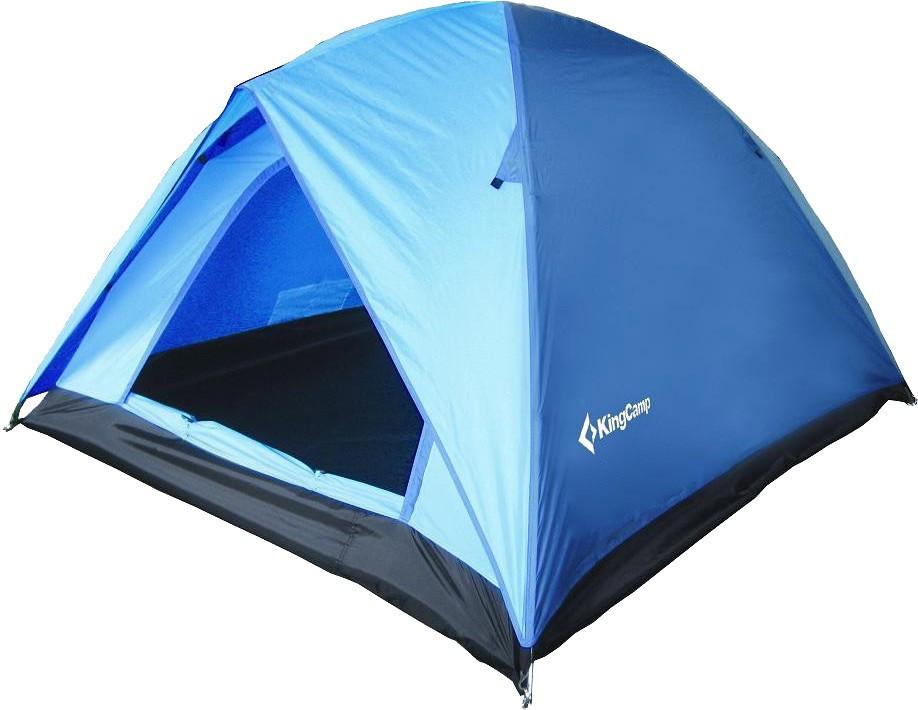 Палатка трехместная KingCamp Family 3 KT3073, синяя