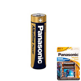 Батарейка AA LR6 Panasonic Alkaline лужна 1.5 В
