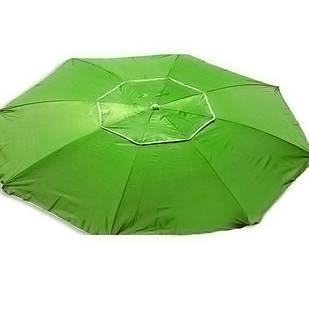 Зонт пляжний антиветер d2.0м срібло Stenson MH-2684 салатовий