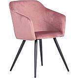 Крісло LYNETTE велюр рожевий AMF (безкоштовна адресна доставка), фото 2