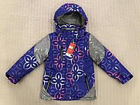 Куртка-ветровка весенняя детская с отражателем фиолетовый в розницу, фото 1