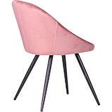 Стул обеденный Mary велюр розовый AMF (бесплатная адресная доставка), фото 3